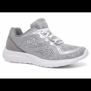 FILA Octave 2 Size 6.5 Metallic Silver Sneakers